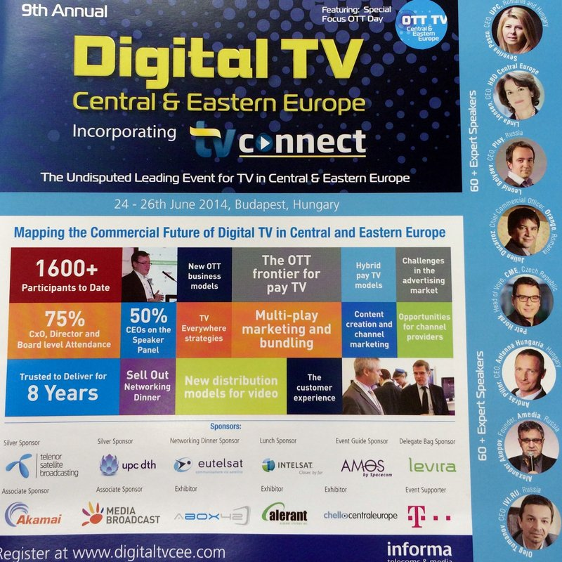 "Speaker acquisition for ""Digital TV in Central & Eastern Europe"" 2012 (Prague), 2013 (Krakow), 2014 (Budapest)"