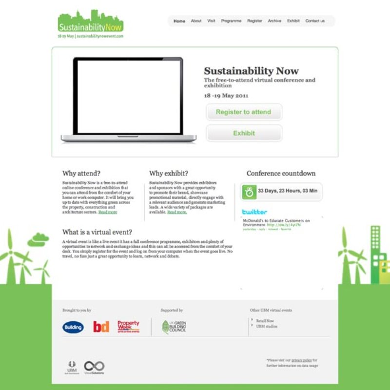 "Virtual Event Production for ""Sustainability Now"""